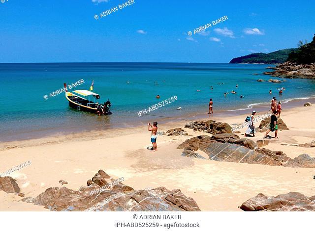 Thailand Phuket Naithon Banana Beach near Naithon