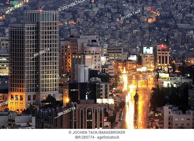 JOR, Jordan, Amman: City Center, Business district, Zahran district. Al Hussein Bin Ali Street, Jebel Amman.  