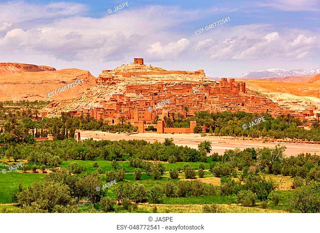 Picturesque mountain village (kasbah) Ait Ben Haddou not far from Ouarzazate in Morocco, Africa