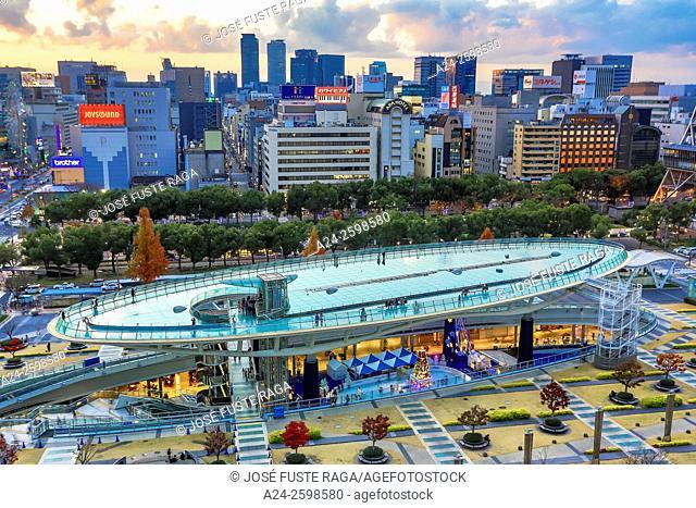 Japan, Nagoya City, Sakae District, Oasis 21 Sapaceship Aqua