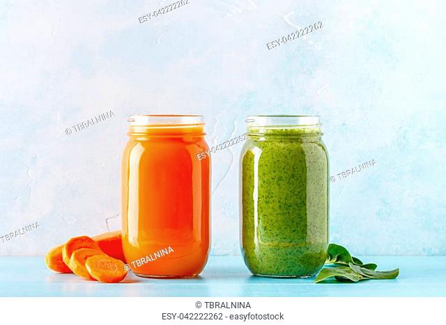 Pineapple and papaya juice with ginger Stock Photos and Images | age