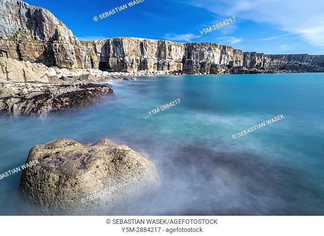 St Govan's Head, Pembrokeshire Coast National Park, Bosherston, Wales, UK