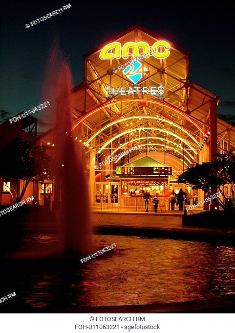 Orlando, FL, Florida, Lake Buena Vista, Walt Disney World, Downtown Disney Westside, AMC 24 Theatre Complex, evening