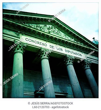 Congreso de los Diputados (Spanish Parliament building), Madrid. Spain