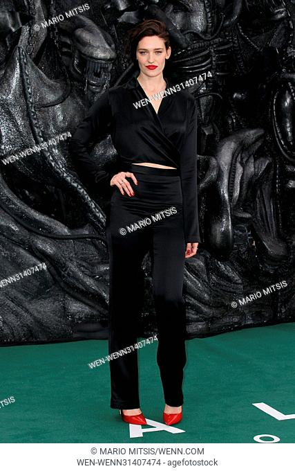The World Premiere of 'Alien: Covenant' held at the Odeon Leicester Square - Arrivals Featuring: Tess Haubrich Where: London