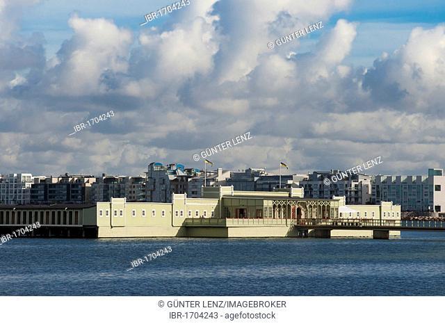 Ribersborgs Kallbadhus, bath house on the Baltic Sea, Malmo, Skane, Sweden, Europe