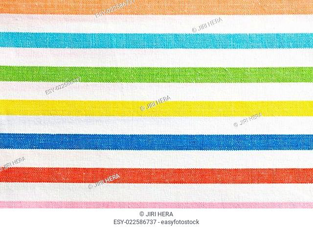 texture of striped kitchen napkin