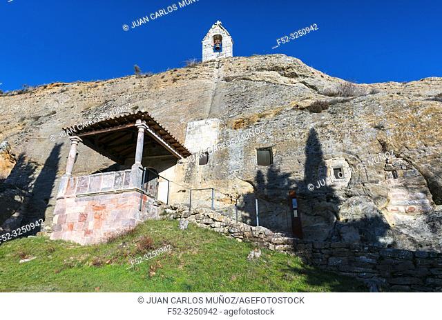 Iglesia Rupestre de los Santos Justo y Pastor, Olleros de Pisuerga, Montaña Palentina, Palencia, Castilla y Leon, Spain, Europe