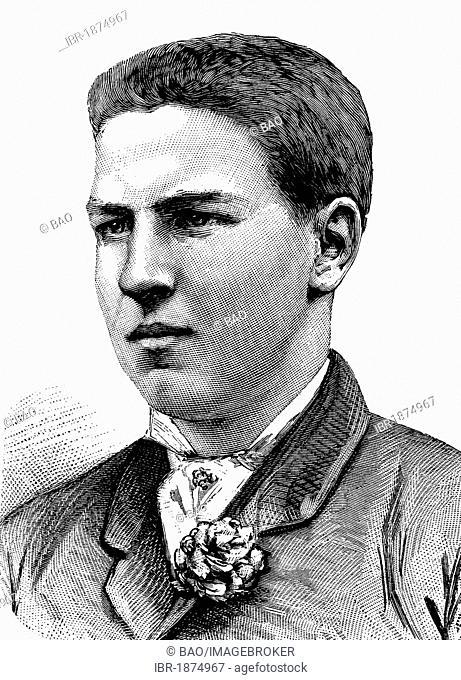 Louis Philippe I de Bourbon, Duke of Orleans, historical illustration, circa 1886