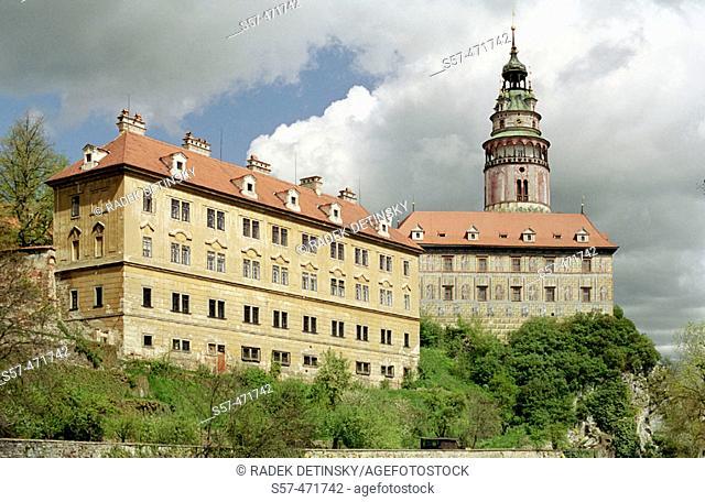 castle Cesky Krumlov (Krumau), South Bohemia, Czech Republic