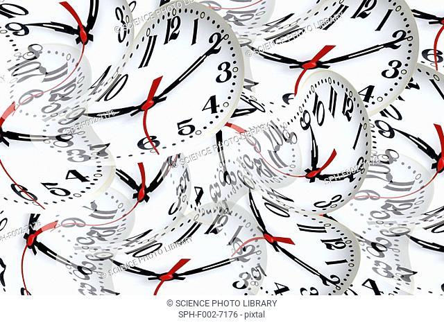 Time warps, conceptual artwork