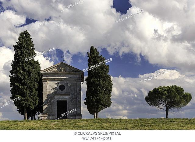Madonna of Vitaleta Chapel, Italy, Tuscany, Siena province, San Quirico