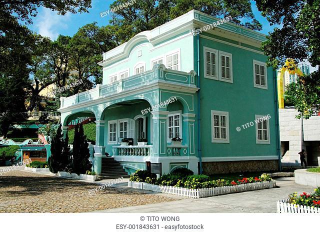 Preserved colonial house, Macau, Taipa