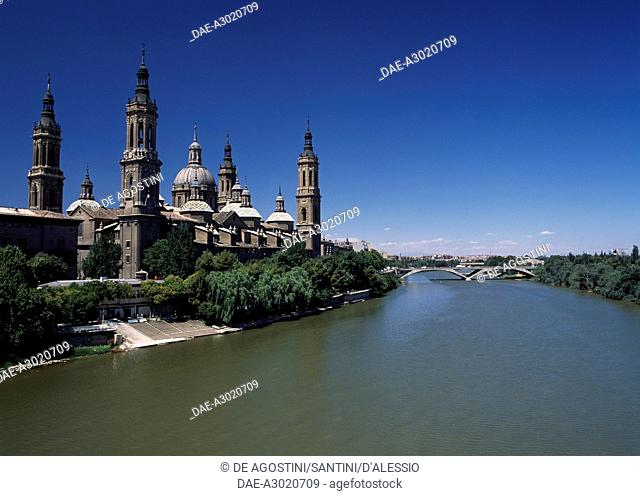 Basilica of Our Lady of the Pillar, 1681-1872, Zaragoza, Aragon. Spain, 17th-19th century