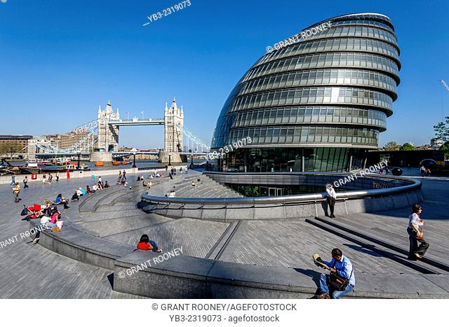 City Hall (London Assembly Building) and The Tower Of London, London, England
