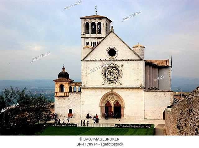 Monastery church of San Francesco in Assisi, Umbria, Italy, Europe