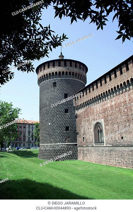 Sforzesco Castle, Milan, Lombardy, Italy, Western Europe
