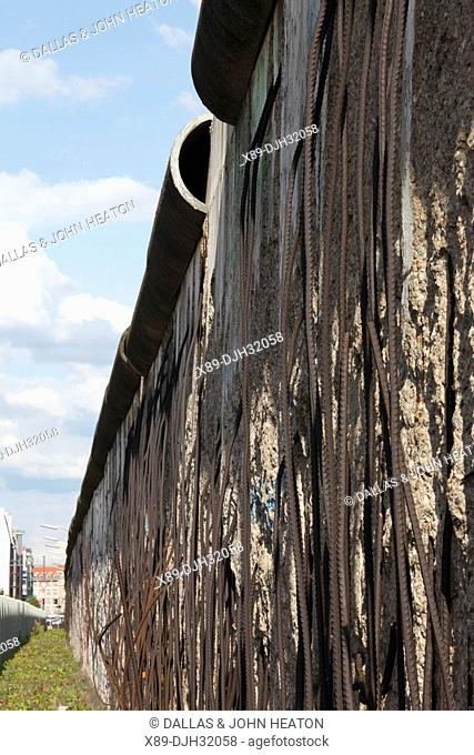 Germany, Berlin, Zimmer Strasse, Checkpoint Charlie, Preserved Section of Berlin Wall, Berliner Mauer