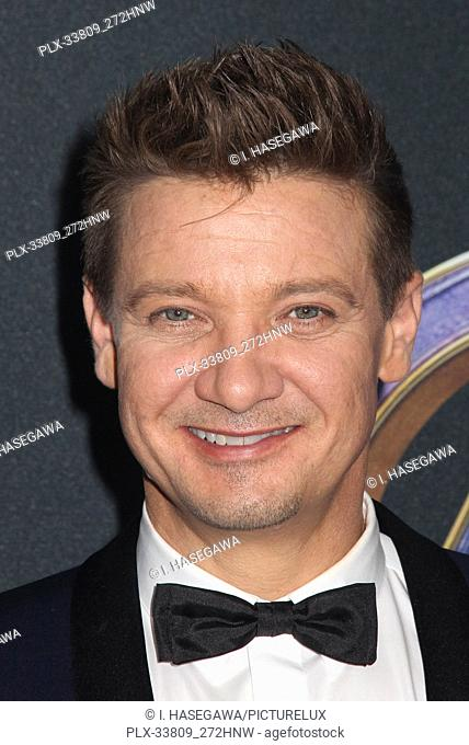 """Jeremy Renner 04/22/2019 The world premiere of Marvel Studios' """"""""Avengers: Endgame"""""""" held at The Los Angeles Convention Center in Los Angeles, CA"""