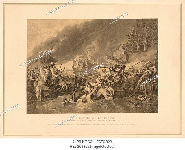 'The Battle of La Hogue', 1692 (1878). Artist: W Ridgway