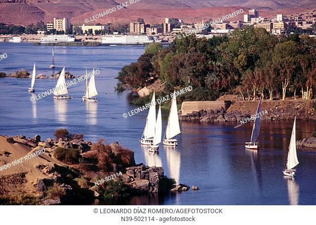 Falucas. Aswan, Egypt