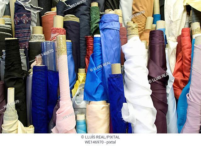 Fabrics in store