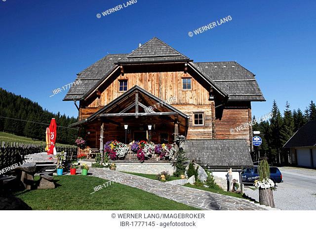 Holdahuettn mountain lodge, Almenland area, Styria, Austria, Europe