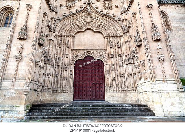 salamanca, castilla-leon, spain.cathedral door