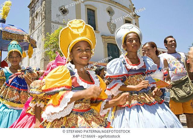 Street Carnival in Olinda near Recife, Brazil, South America