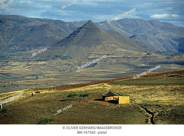 Maluti mountains in Lesotho, Africa