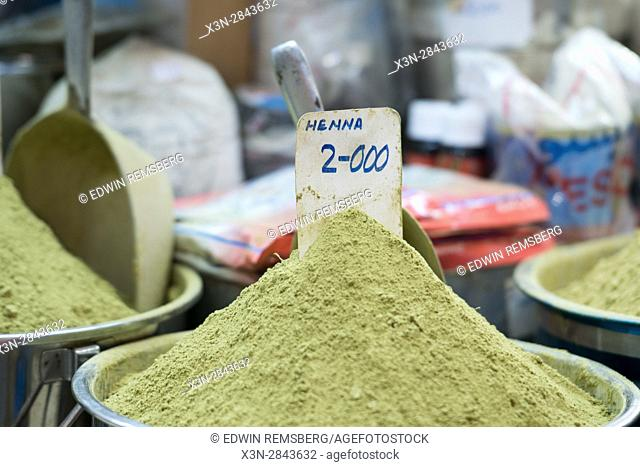Muscat, Oman - Souq Muttrah Powder Henna in market