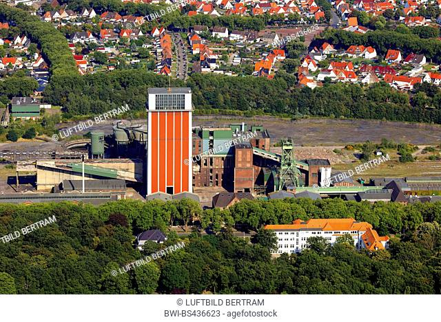 former coal mine Friedrich Heinrich in Kamp-Lintfort aerial photo, 18.08.2016, Germany, North Rhine-Westphalia, Ruhr Area, Kamp-Lintfort