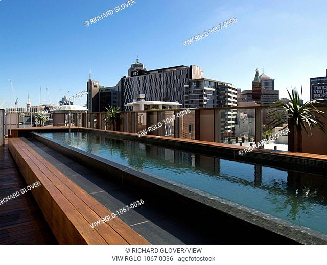 View of rooftop pool. The Old Clare Hotel, Sydney, Australia. Architect: Tonkin Zulaikha Greer, 2015