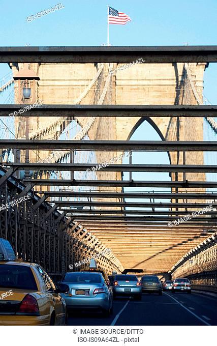 Traffic on Brooklyn Bridge