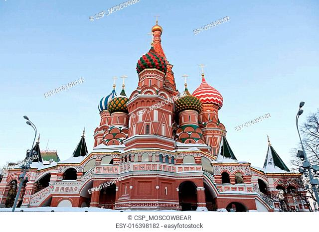 Saint Basil Cathedral. Moscow, Russia, Red Square