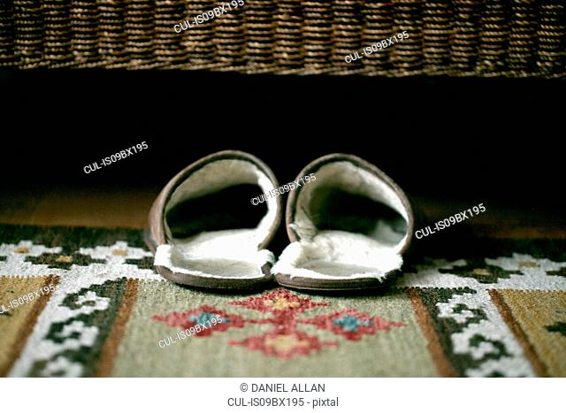 Slippers under bed