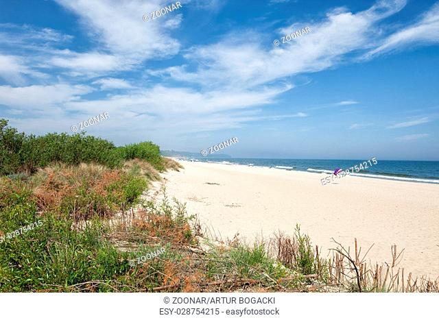 Beach in Resort Town of Wladyslawowo in Poland