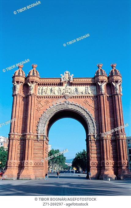 Arc de Triomf. Barcelona. Catalonia. Spain