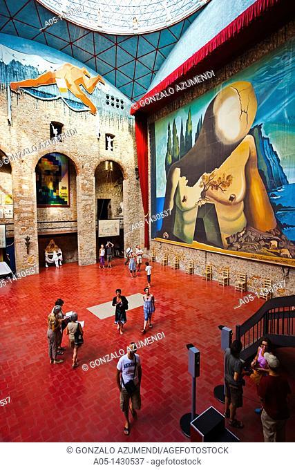 Stage, Salvador Dalí Theater-Museum, Foundation Gala-Salvador Dalí, Figueres, Alt Empordá, Costa Brava, Girona Province, Catalonia, Spain