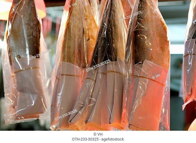 Salted fish, Lau Fau Shan, New Territories, Hong Kong