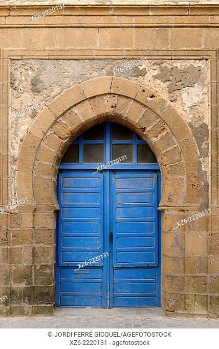 Typical door in the Essaouira souk, Morocco, Africa