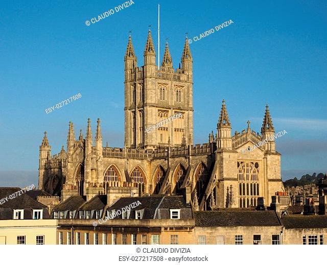 The Abbey Church of Saint Peter and Saint Paul (aka Bath Abbey) in Bath, UK