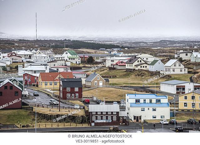 Icelandic houses of Stykkishólmur, Snæfellsnes peninsula (region of Vesturland, Iceland)