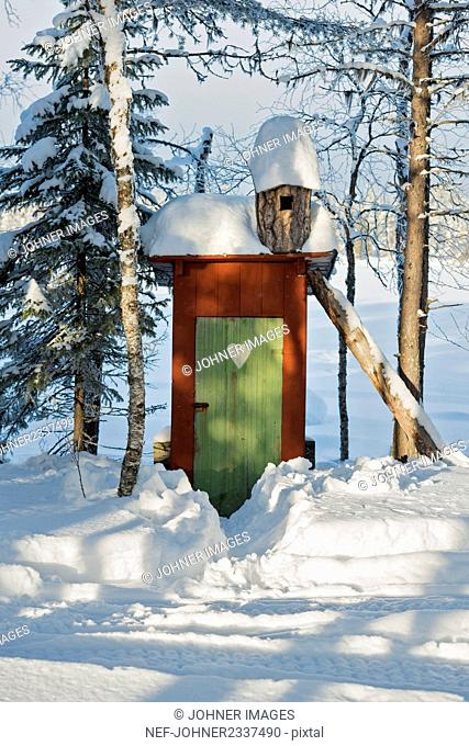 Outhouse at winter