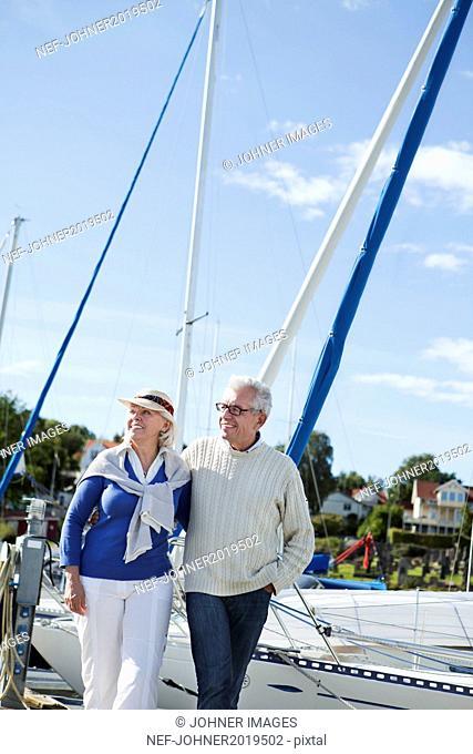 Senior couple at harbor