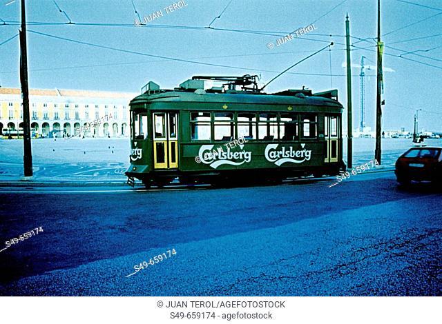 Streetcar. Lisbon. Portugal