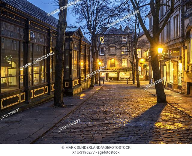 Crown Place at dusk Harrogate North Yorkshire England