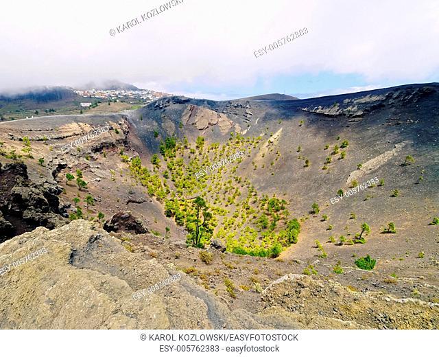 Volcano San Antonio in Fuencaliente - Los Canarios on La Palma, Canary Islands, Spain