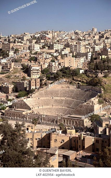Roman Theatre in the center of capital Amman, Jordan, Middle East, Asia