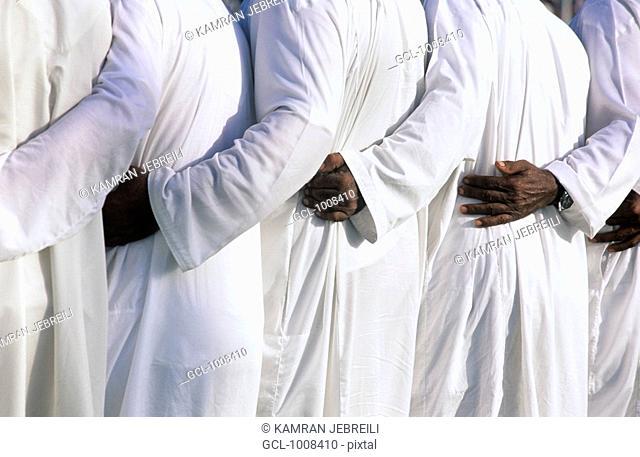 Emirati men dancing Folklore in the United Arab Emirates